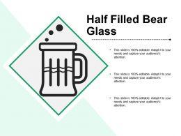 Half Filled Bear Glass