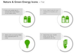 Half Full Battery Bulb Power Conservation Ppt Icons Graphics