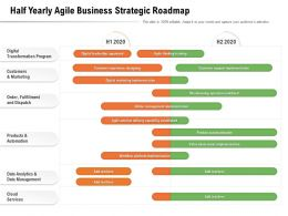 Half Yearly Agile Business Strategic Roadmap