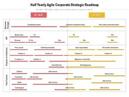 Half Yearly Agile Corporate Strategic Roadmap