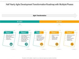 Half Yearly Agile Development Transformation Roadmap With Multiple Phases
