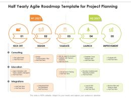 Half Yearly Agile Roadmap Template For Project Planning