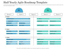 Half Yearly Agile Roadmap Timeline Powerpoint Template