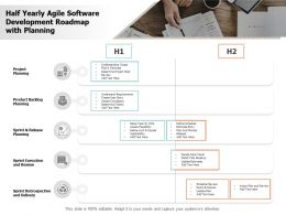 Half Yearly Agile Software Development Roadmap With Planning