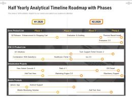 Half Yearly Analytical Timeline Roadmap With Phases