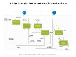 Half Yearly Application Development Process Roadmap