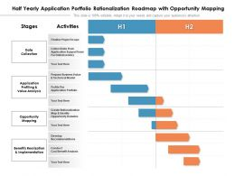 Half Yearly Application Portfolio Rationalization Roadmap With Opportunity Mapping