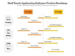 Half Yearly Application Software Product Roadmap