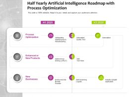 Half Yearly Artificial Intelligence Roadmap With Process Optimization