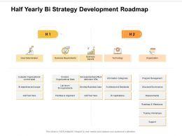 Half Yearly Bi Strategy Development Roadmap