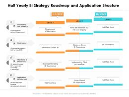 Half Yearly BI Strategy Roadmap And Application Structure