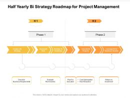 Half Yearly Bi Strategy Roadmap For Project Management