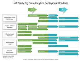 Half Yearly Big Data Analytics Deployment Roadmap