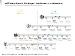 Half Yearly Bitcoin File Project Implementation Roadmap