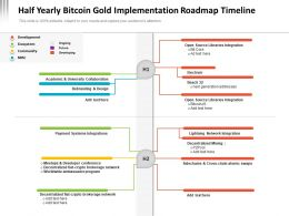 Half Yearly Bitcoin Gold Implementation Roadmap Timeline