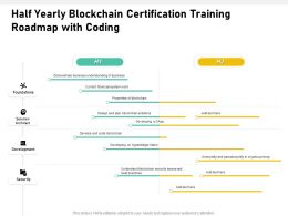 Half Yearly Blockchain Certification Training Roadmap With Coding