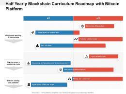 Half Yearly Blockchain Curriculum Roadmap With Bitcoin Platform