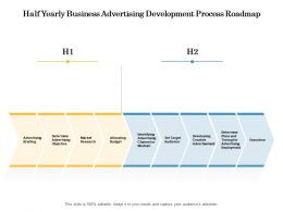 Half Yearly Business Advertising Development Process Roadmap