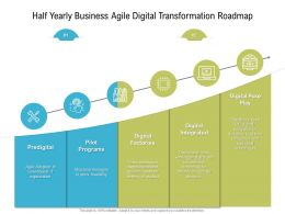 Half Yearly Business Agile Digital Transformation Roadmap