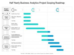Half Yearly Business Analytics Project Scoping Roadmap