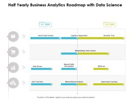 Half Yearly Business Analytics Roadmap With Data Science
