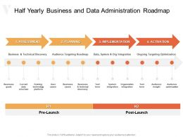 Half Yearly Business And Data Administration Roadmap