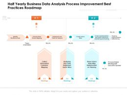 Half Yearly Business Data Analysis Process Improvement Best Practices Roadmap