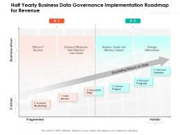 Half Yearly Business Data Governance Implementation Roadmap For Revenue