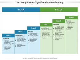 Half Yearly Business Digital Transformation Roadmap