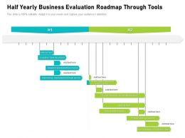 Half Yearly Business Evaluation Roadmap Through Tools