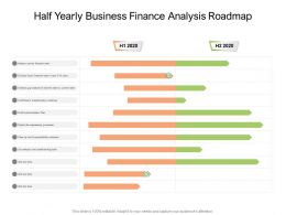 Half Yearly Business Finance Analysis Roadmap
