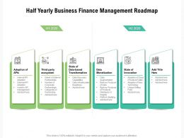 Half Yearly Business Finance Management Roadmap