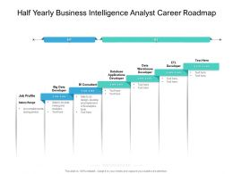 Half Yearly Business Intelligence Analyst Career Roadmap