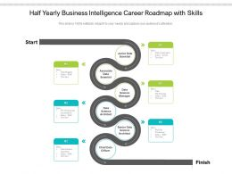Half Yearly Business Intelligence Career Roadmap With Skills