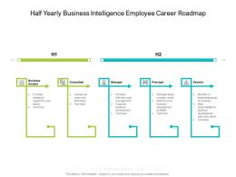 Half Yearly Business Intelligence Employee Career Roadmap