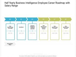 Half Yearly Business Intelligence Employee Career Roadmap With Salary Range