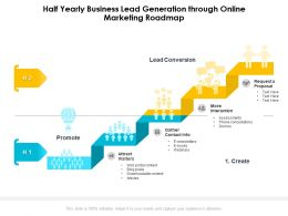Half Yearly Business Lead Generation Through Online Marketing Roadmap