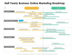 Half Yearly Business Online Marketing Roadmap