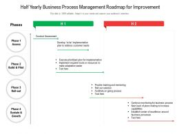Half Yearly Business Process Management Roadmap For Improvement