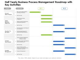 Half Yearly Business Process Management Roadmap With Key Activities