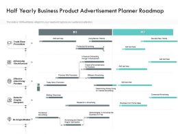 Half Yearly Business Product Advertisement Planner Roadmap