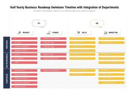 Half Yearly Business Roadmap Swimlane Timeline With Integration Of Departments