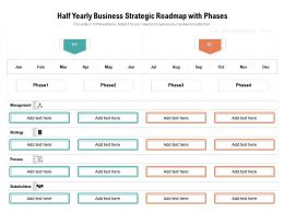 Half Yearly Business Strategic Roadmap With Phases