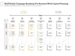 Half Yearly Campaign Roadmap For Business With Capital Planning