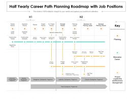 Half Yearly Career Path Planning Roadmap With Job Positions