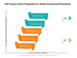 Half Yearly Career Progression For Stable Employment Roadmap