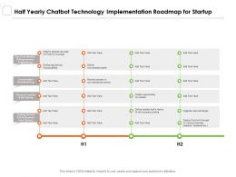Half Yearly Chatbot Technology Implementation Roadmap For Startup