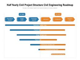Half Yearly Civil Project Structure Civil Engineering Roadmap