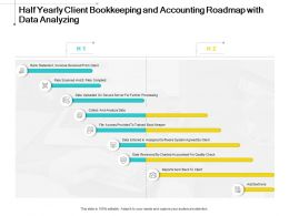 Half Yearly Client Bookkeeping And Accounting Roadmap With Data Analyzing