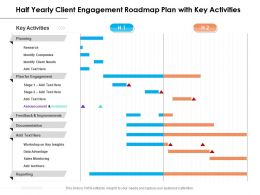 Half Yearly Client Engagement Roadmap Plan With Key Activities